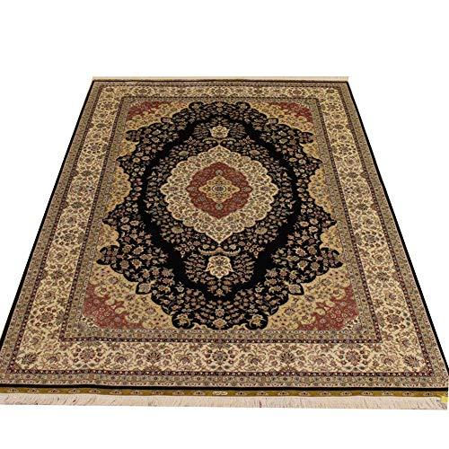 Camel Carpet 6'x9′ Vintage Handmade Tabriz Persian Rug Silk Area Carpet for Living Room Bedroom Dinning Room Studyroom
