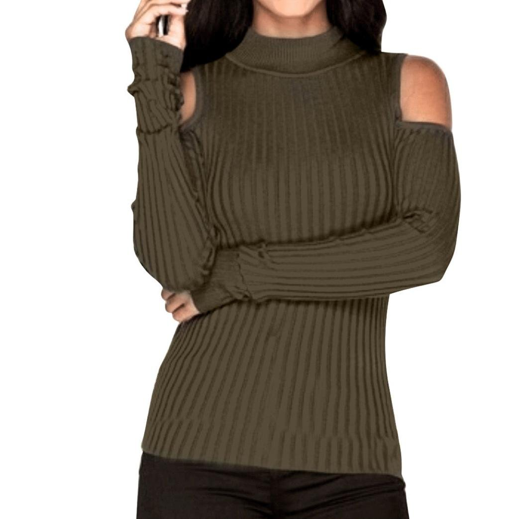 Women's Blouse,Xinantime Long Sleeve Knitted Pullover Sweater Jumper Blouse Tops (UK Size:8, Green) Women' s Blouse