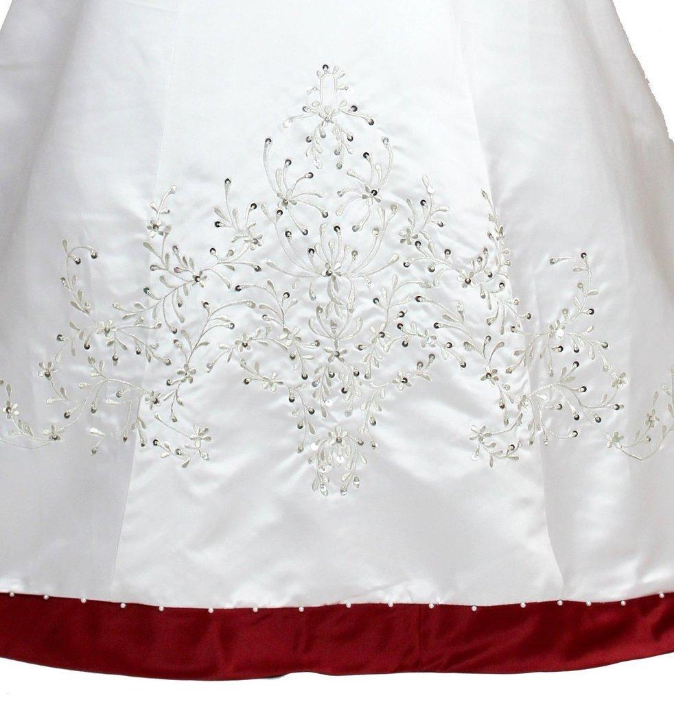 Snowskite Women's Sweetheart Embroidery Satin Beading Wedding Dress 18 Ivory&Black by Snowskite (Image #4)