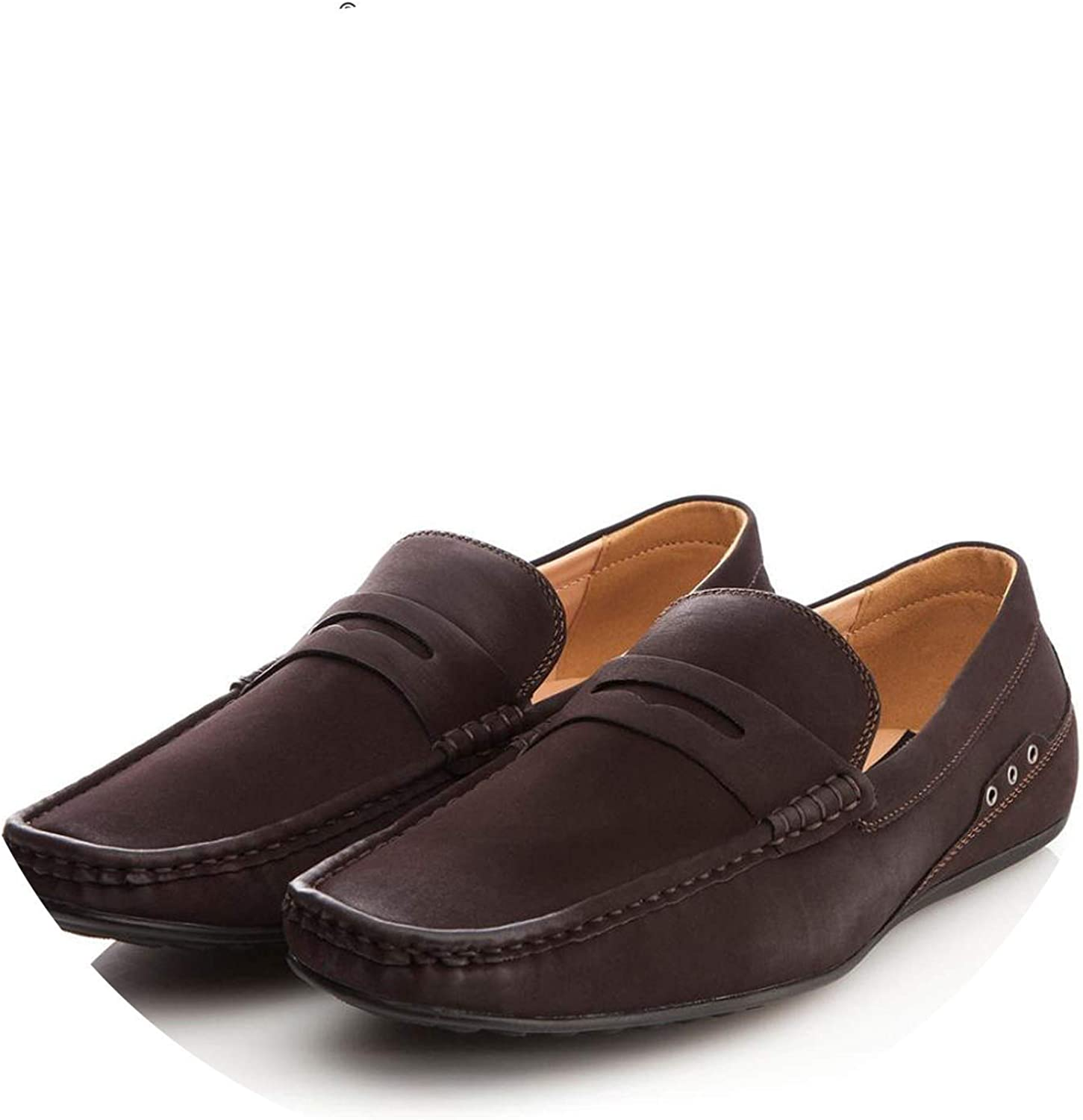 Get-in Men Loafers Driving Shoes Men Artificial Leather Shoes Wear Comfortable Men Walking Shoes Brown #CE86810