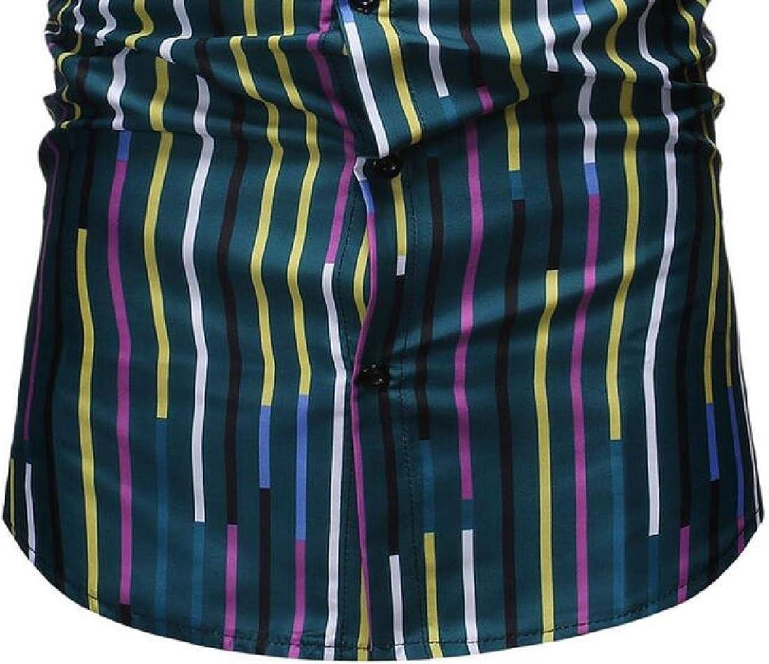 Rrive Men Shirts Formal Casual Button Down Long Sleeve Printed Dress Shirts