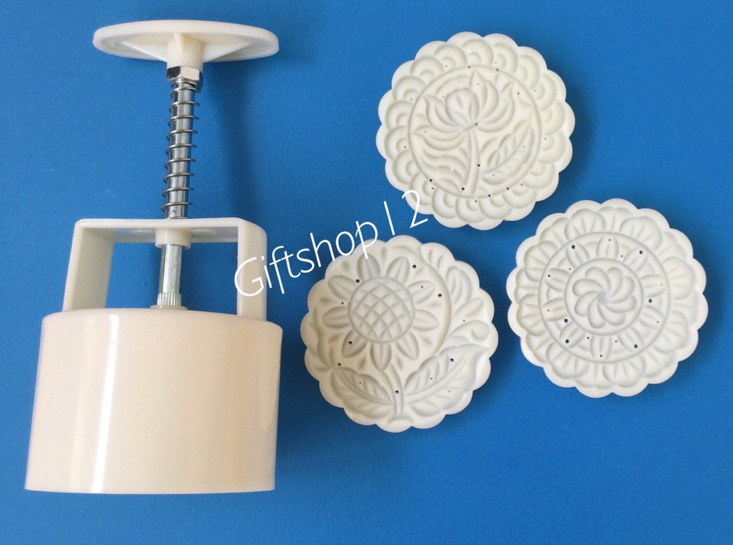 Giftshop12 Mooncake Molds Cookie Cutter Molds Round 150g-170g