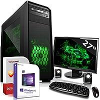 Gaming PC mit Monitor Intel Core i7-9700K 8x4.9GHz 8.Generation  ASUS Board 27 Zoll TFT 16GB DDR4 480GB SSD u. 2TB HDD Nvidia RTX 2080Ti 11GB 4K HDMI DVD-RW USB 3.1 Windows 10 Pro 3 Jahre Garantie