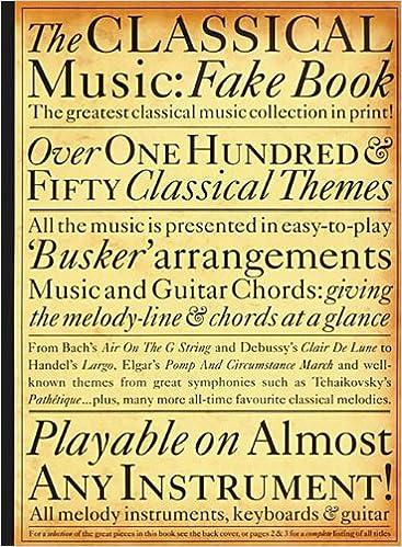 The Classical Music Fake Book Fake Books Peter Lavender Hal