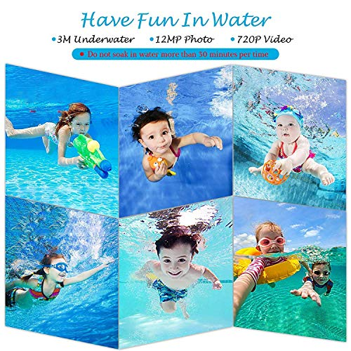Kids Camera Underwater Digital Camera-IP68 Waterproof Toddler Camera,Video Recorder Action Preschool camera,2.0 Inch LCD Display,16G TF Card Floating Wrist Strap,8X Digital Zoom, Flash and Mic for Kid by L8star (Image #4)