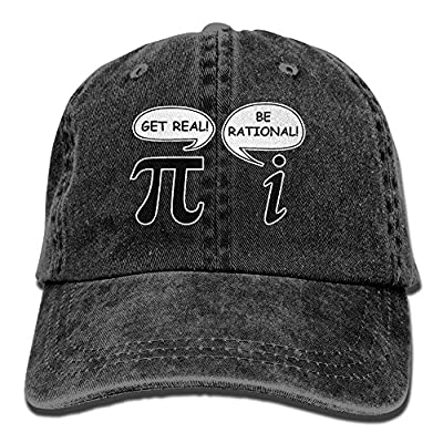 Funny Math Pi Unisex Adult Denim Washed Cowboy Trucker Hat Retro Adjustable Baseball Cap