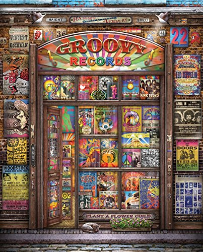 Springbok Puzzles - Groovy Records - 1000 Piece Jigsaw Puzzle - Large 30 Inches by 24 Inches Puzzle - Made in USA - Unique Cut Interlocking Pieces (Best Made Jigsaw Puzzles)