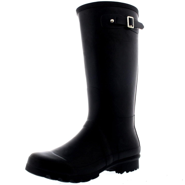 Polar Womens Tall Extra Wide Calf Wellington Galosh Muck Gardening Waterproof Rain Boots