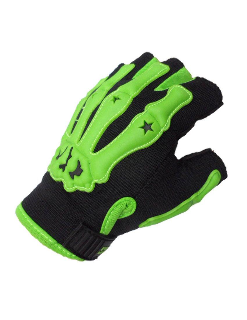 Nidicus Men's Summer Breathable Net Sport Outdoor Parkour Cycling Glove Mitten Green Medium