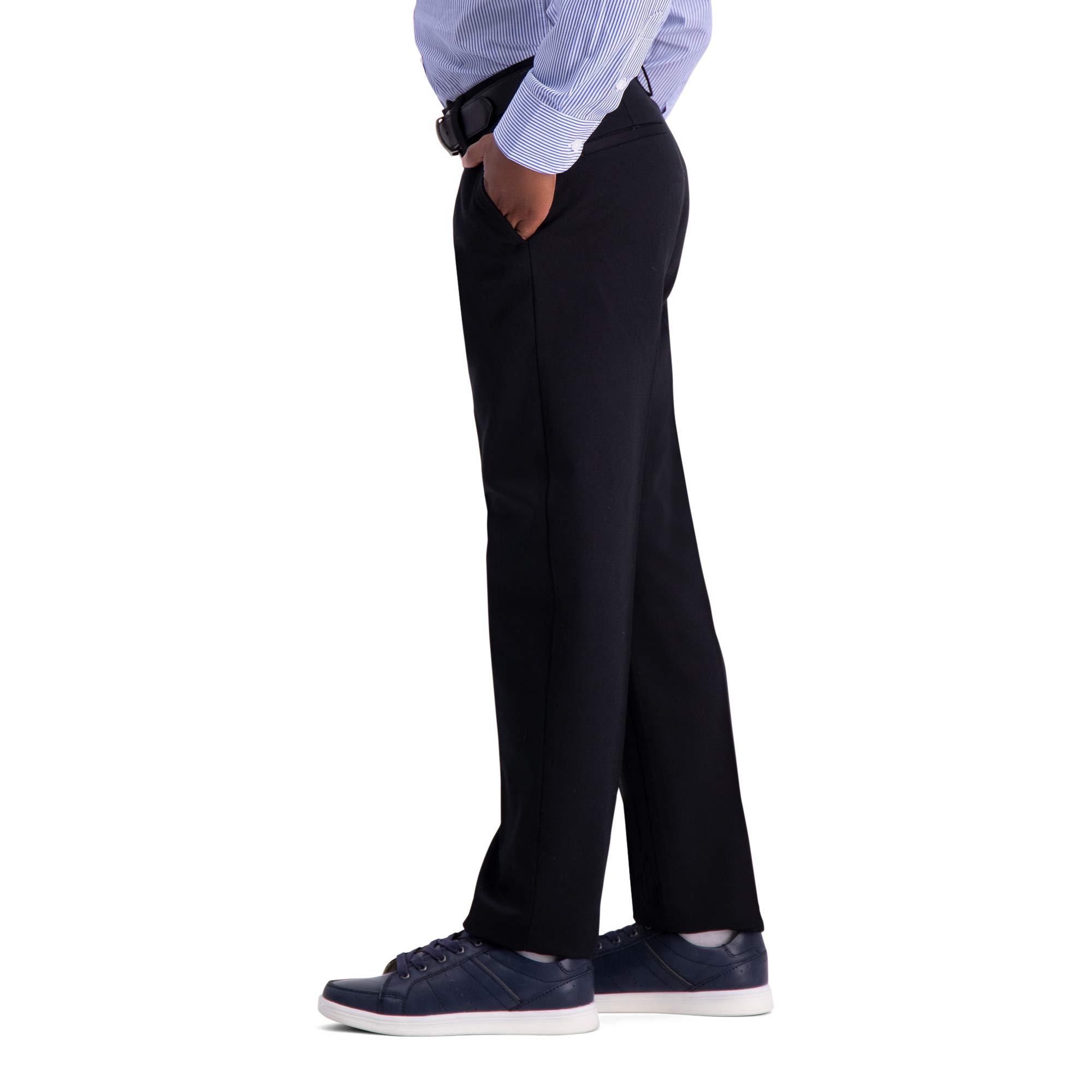 Haggar Big Boy's Youth Slim 8-20 Premium No Iron Khaki Pant, Black, 8 SLM by Haggar (Image #2)