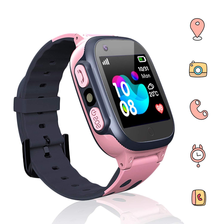 Jaybest Smartwatch Niños - Inteligente Relojes Phone con cámara SOS Ranura para Tarjeta de Juego Juego de Reloj Inteligente Compatible con iOS y ...