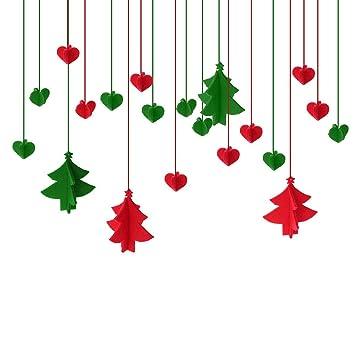 bestoyard christmas hanging decorations xmas ceiling decorations christmas window decorations 3mm thick felt