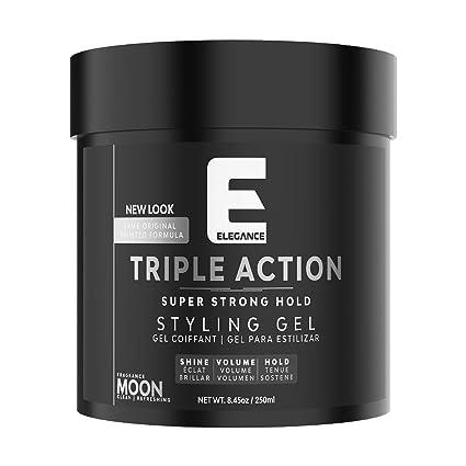 Amazon.com: Elegance Triple Action Hair Gel: Luxury Beauty