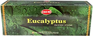 Eucalyptus - Box of Six 20 Stick Tubes - HEM Incense
