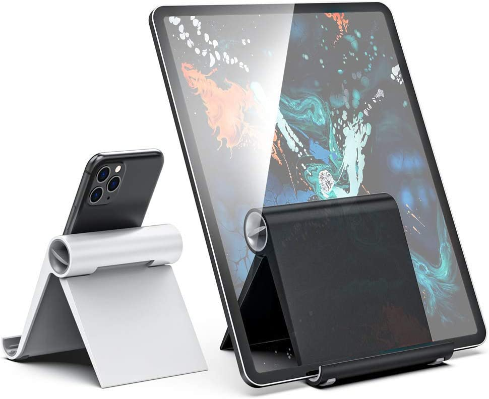 ORIbox Cell Phone Stand, iPad stand, Aluminum Desktop Solid Universal Desk Stand, Compatible with All iPhone 12 Pro max/12Pro/12/12 mini/11 Pro max/11, Samsung Galaxy