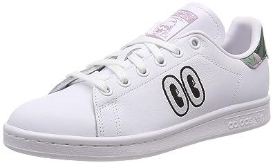 a33dd3e414 adidas Stan Smith W, Chaussures de Running Femme, Multicolore (FTWR  White/Soft