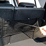SaveStore Super Big Size 50cm x 25cm Auto Seat Back Storage Mesh Net Bag Car Magic Sticking Holder Pocket Trunk Organizer