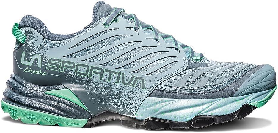La Sportiva Akasha - Zapatillas de running para mujer - 26Z-904704, 37.5 B (M) US, Stone Blue/Jade Green: Amazon.es: Deportes y aire libre