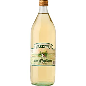 "LAretino: ""Aceto di Vino Bianco"" White Wine Vinegar, Glass"