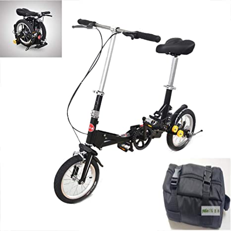 LYGID Bike Folding Mini Bicicleta Plegable Cuadro Ruedas 20
