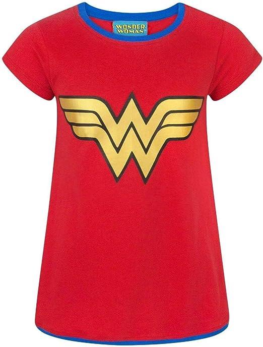DC Comics Wonder Woman Metallic Logo GirlS T-Shirt: Amazon.es ...