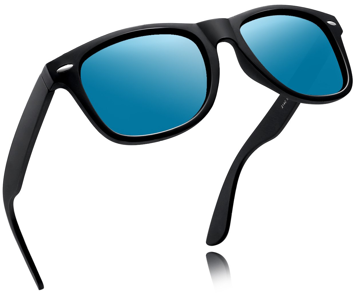 Joopin-2016 Retro Men Polarized Sunglasses Women Brand Sun Glasses Polaroid Lens With Box (Ice Blue)