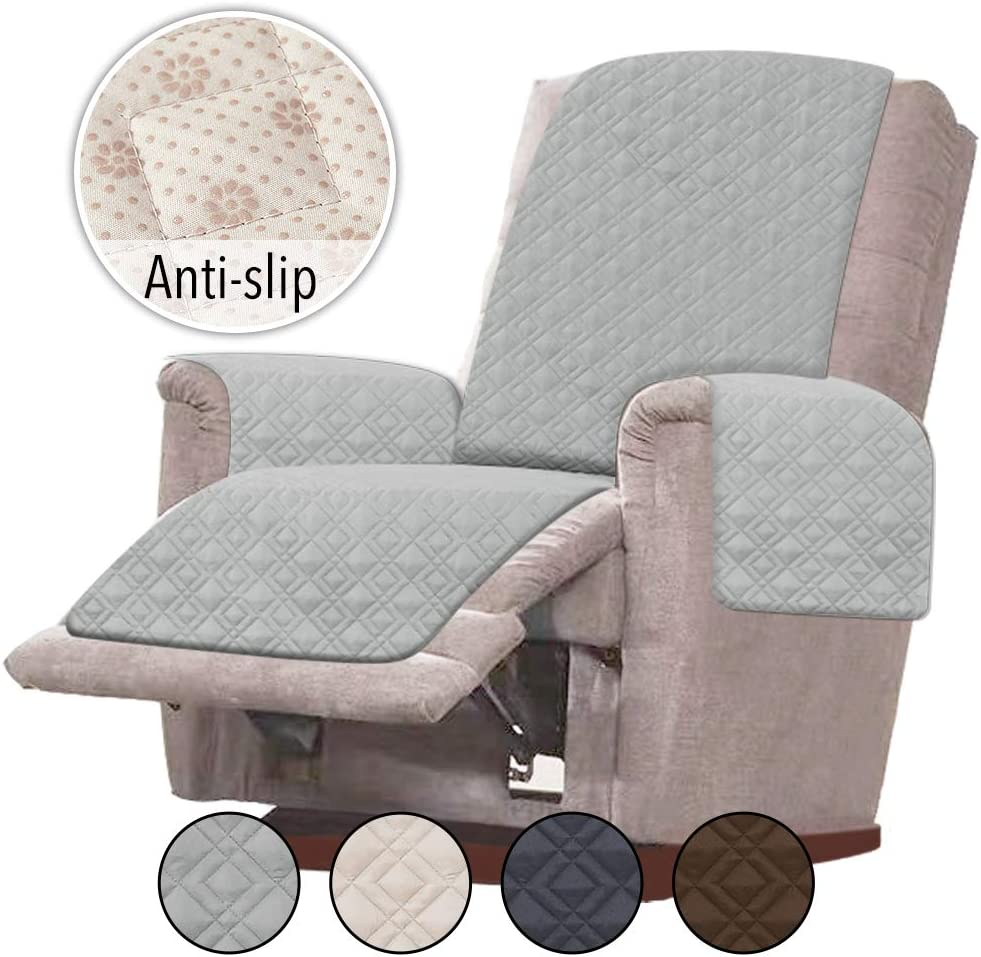 Recliner Covers Double Diamond Recliner-Oversized:Beige Recliner Chair Covers Slipcovers for Recliner RHF Anti-slip Oversized Recliner Cover for Leather Sofa /& Oversized Recliner Covers
