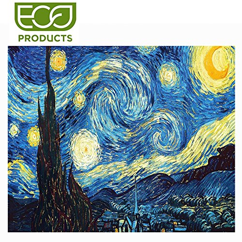 5D DIY Starry Night Diamond Painting By Number Kits For Adults Round Full Drill Crystal Rhinestone Van Gogh Embroidery For Canvas Wall Decoration 12X16 Inches ()