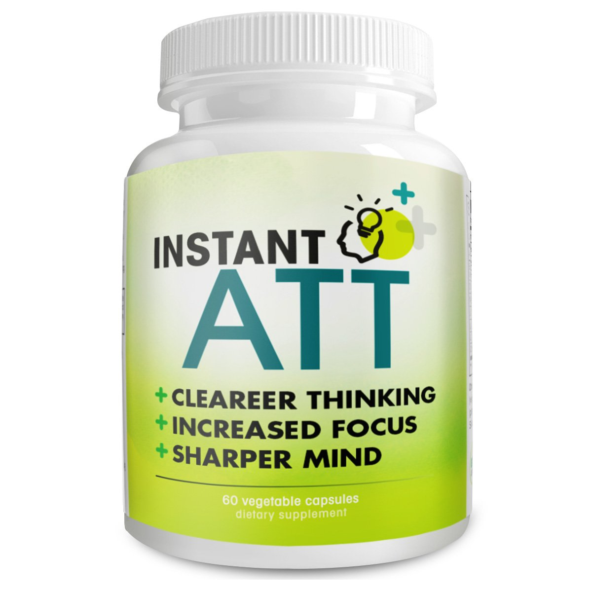 Instant ATT All-Natural Dietary Supplement for Clearer Thinking, Brain Function, Sharper Mind, 30 Capsules
