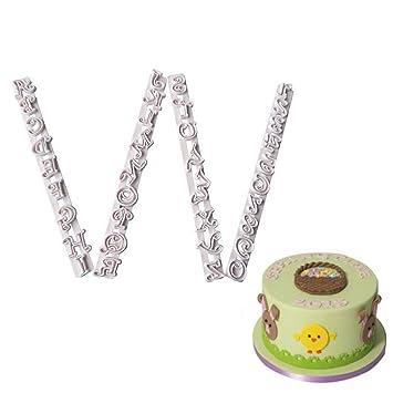 Letras del alfabeto para decorar sugarcraft, moldes de plástico para hornear: Amazon.es: Hogar