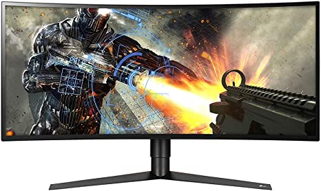 Amazon Com Lg 34gk950f B 34 21 9 Ultragear Wqhd Nano Ips Curved Gaming Monitor With Radeon Freesync 2 Black Computers Accessories