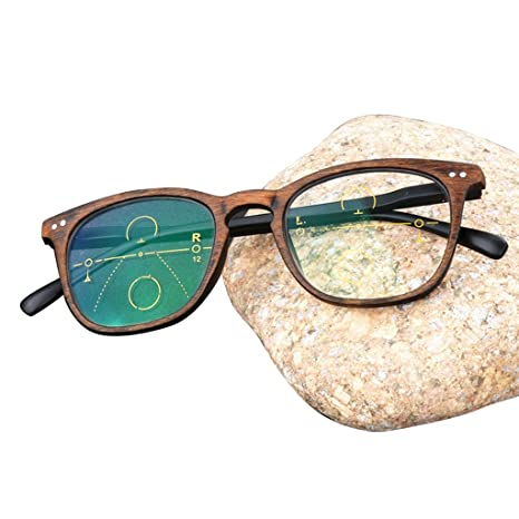 ZY Reading Glasses Gafas de Lectura Retro progresivas de ...