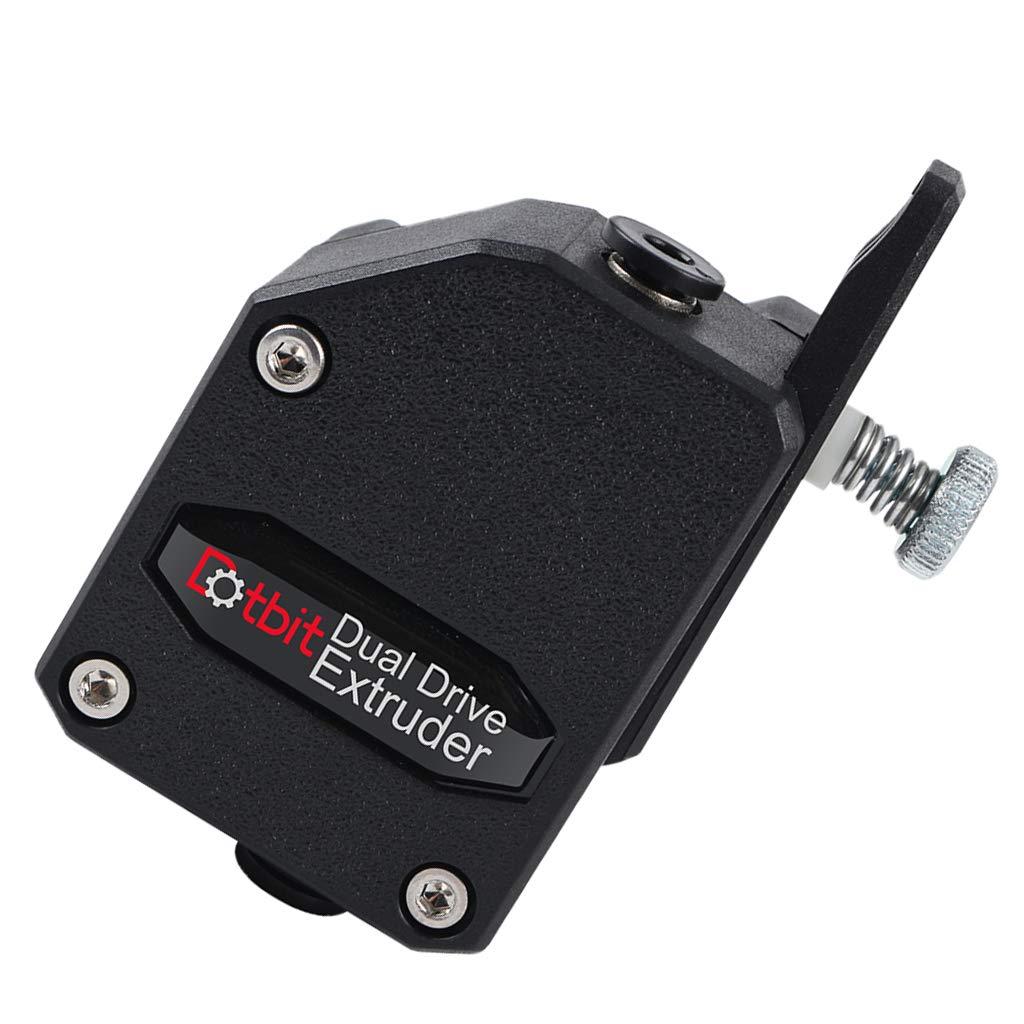 perfk 1 Pezzo Estrusore Bowden BMG Clonato BTECH Estrusore Dual Drive per Stampante 3D MK8 Nero