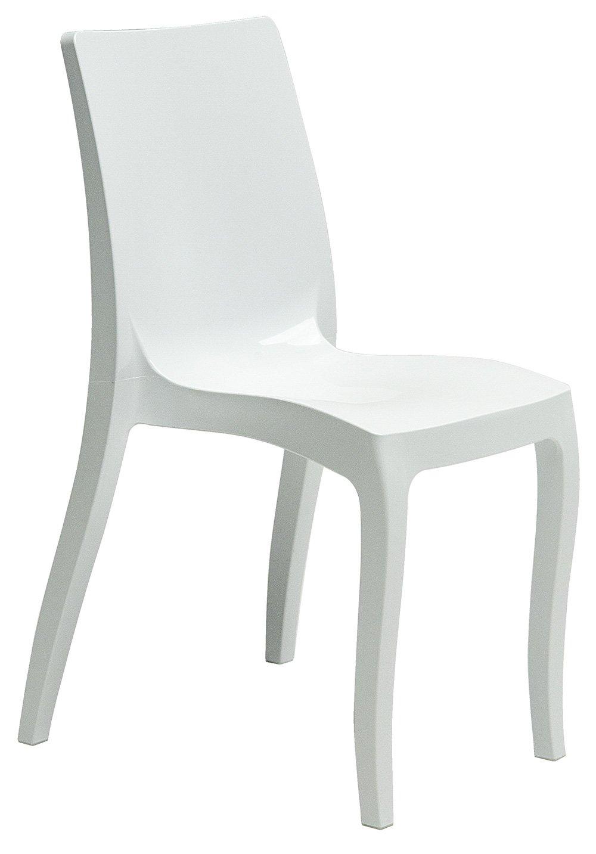 GRAND SOLEIL Grandsoleil alla moda Highmopp sedia impilabile, in policarbonato, bianco lucido, 54x 50x 83cm Grandsoleil_S6226B