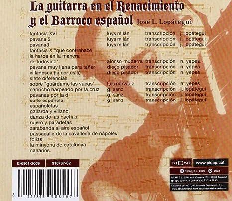 La Guitarra En El Renacimiento Y El Barr: Jose Luis Lopategui ...