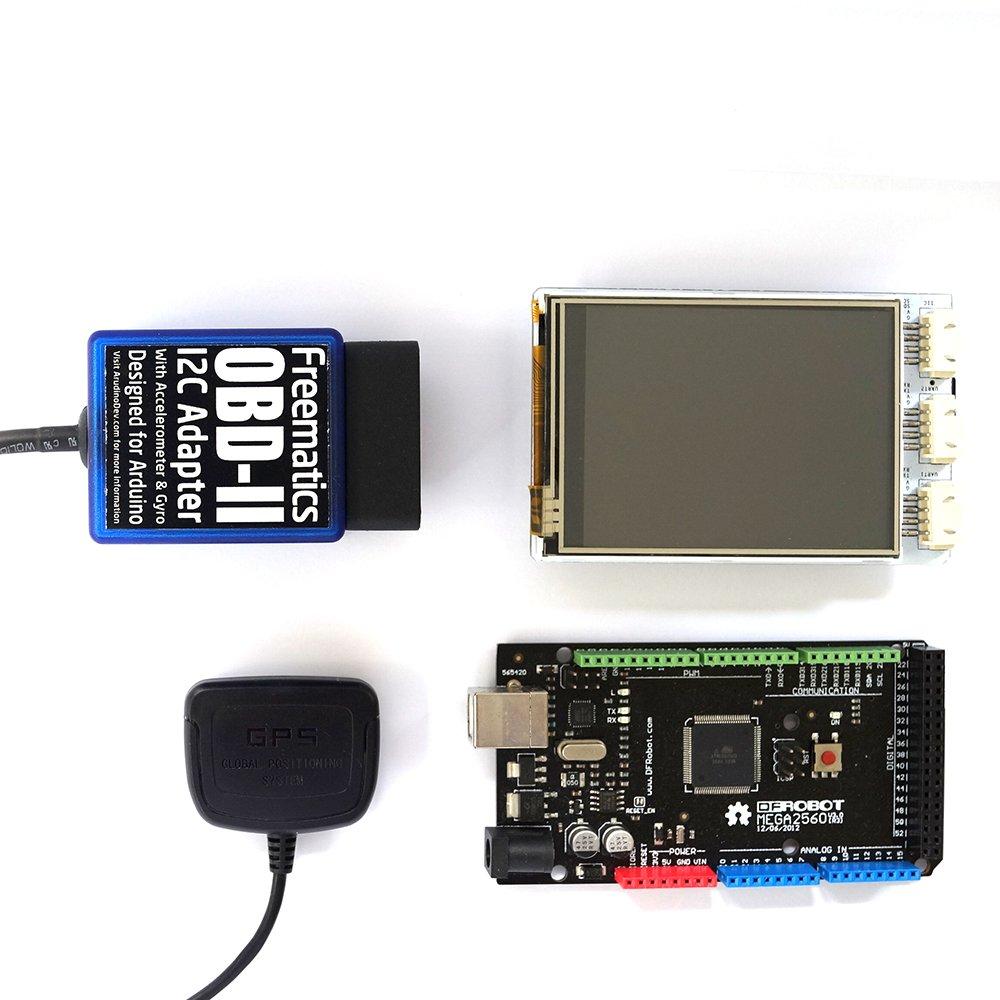 Freematics Telematics Kit (Arduino MEGA, OBD-II, 10Hz GPS