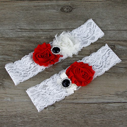 Red Wedding Garters: Oyeahbridal White Bride Wedding Garter Belt Set Lace