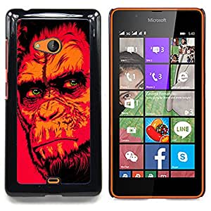 - Red Monkey Gorilla/ Hard Snap On Cell Phone Case Cover - Cao - For Microsoft Nokia Lumia 540 N540