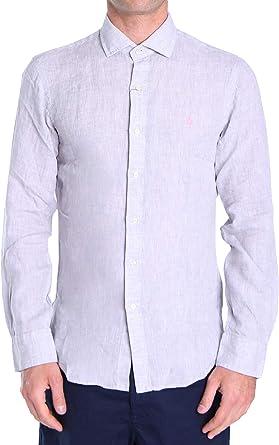 Polo Ralph Lauren Mod. 710800676 Camisa Lino Slim Fit Hombre Gris M: Amazon.es: Ropa y accesorios