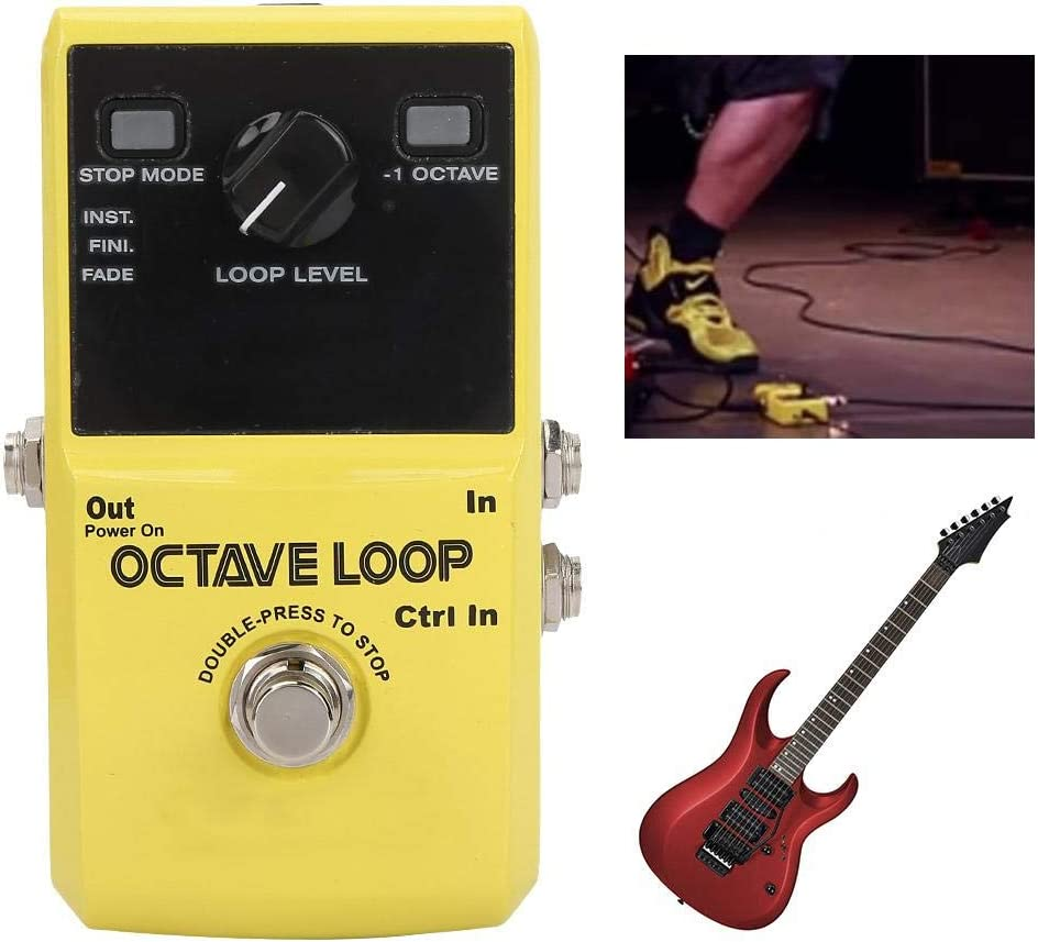 Fafeims Looper Pedal Afinador de Guitarra Guitarra Mini Grabación ...