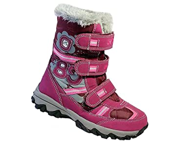 bfa74c6cba71 CAMO Kinder Winterschuhe Mädchen Winterstiefel Boots Stiefel Warmfutter  Weinrot 36