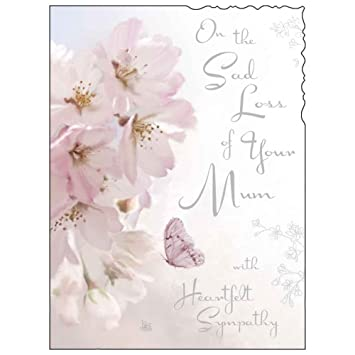 Sympathy card jj4352 sad loss of your mum blossom silver sympathy card jj4352 sad loss of your mum blossom silver embossed altavistaventures Choice Image