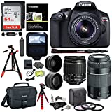 : Canon EOS Rebel T6 DSLR Camera Kit, EF-S 18-55mm IS II Lens, EF 75-300mm III Lens, RitzGear Wide Angle, Telephoto Lens, 64GB and Accessory Bundle