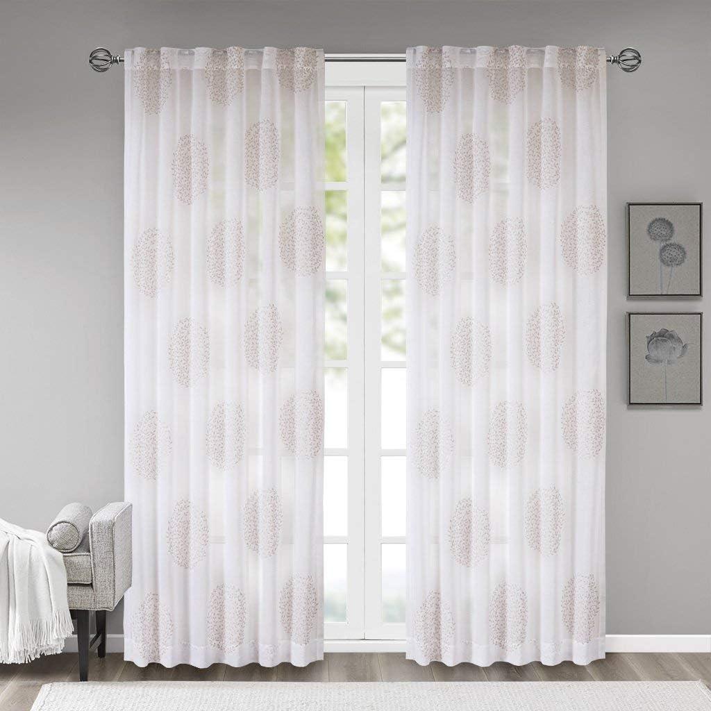 Madison Park Genia Window Curtain, Blush