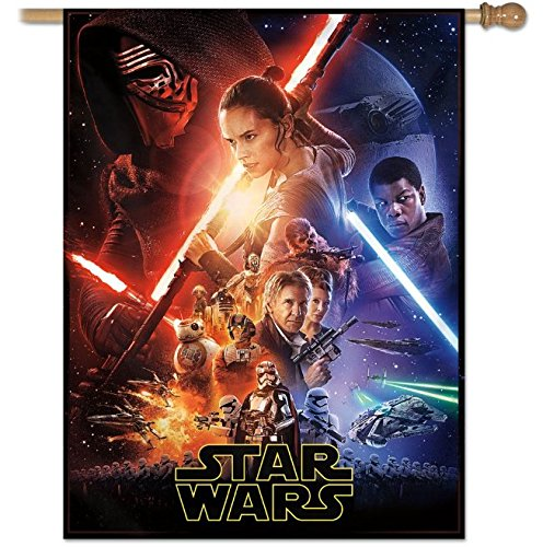 WinCraft Star Wars Star Wars Star Wars New Trilogy Force Awakens 28'' X 40'' Vertical Flag, Multicolor by WinCraft