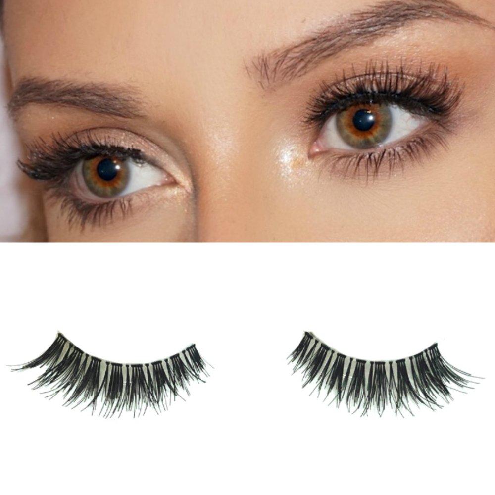 3890062c312 Amazon.com : Milanté Beauty Desire False Lashes Wispy Vegan Black Natural  Thick Long Full Reusable Fake Strip Eyelashes : Beauty