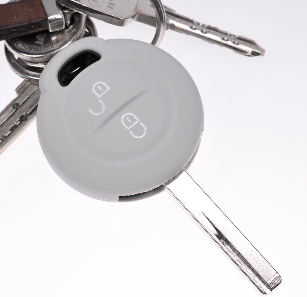 2x Soft Case Schutz Hülle Auto Schlüssel Grau Für Mitsubishi Colt Vi Smart Forfour 454
