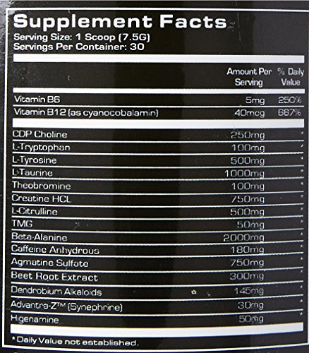 Platinum Labs Defcon 1 2nd Strike Pre-Workout Powder, Watermelon, 7.9 Ounce