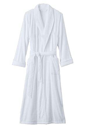 d7b8ac7cf2 Terry Bathrobe 100% Cotton - 12 Colors Available. (Beige) at Amazon Men s  Clothing store