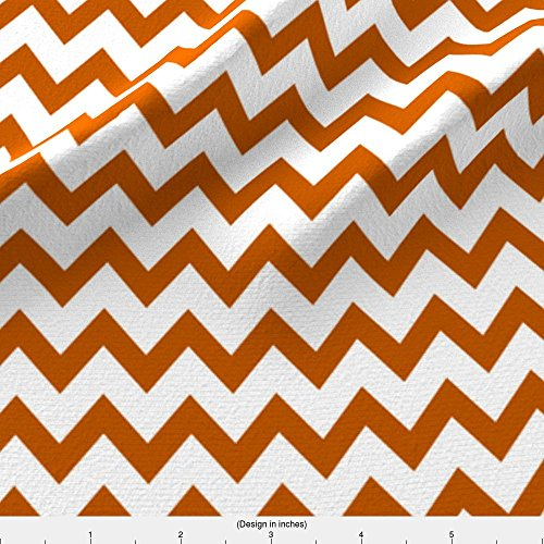 Spoonflower Texas Fabric Ut Longhorns Texas Chevron Pattern Print by Charlottewinter Printed on Fleece Fabric by the (Texas Longhorns Pattern)